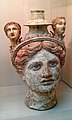 Lekythos (oil-bottle) in the Form of a Female Head with 2 More Heads Added Above (Canosa, about 270-200 BC) - British Museum.jpg