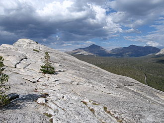 Tuolumne Meadows - The view looking east from Lembert Dome