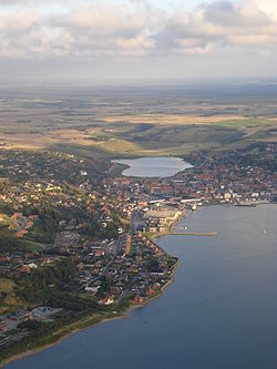 Aerial view of Lemvig