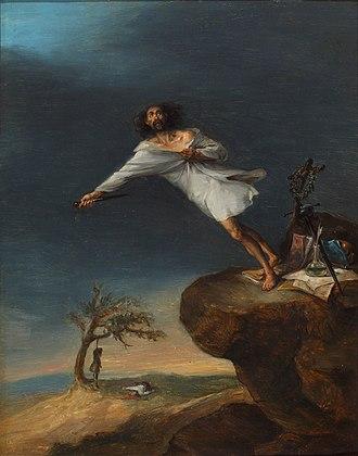 Leonardo Alenza - Satire on Romantic Suicide (1839), his best known work.