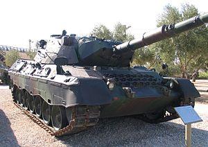 Leopard 1A1A1 im Yad la-Shiryon Museum, Israel