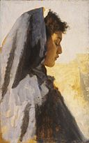 Leopold Carl Müller - Profile Head of a Young Woman - Walters 371013.jpg