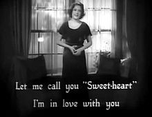 Sary:Let Me Call You Sweetheart (1932).webm
