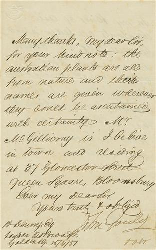 Letter to R. Denny
