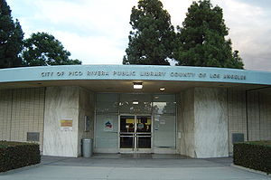 County of Los Angeles Public Library - The original Pico Rivera Library, rebuilt around 2012-13