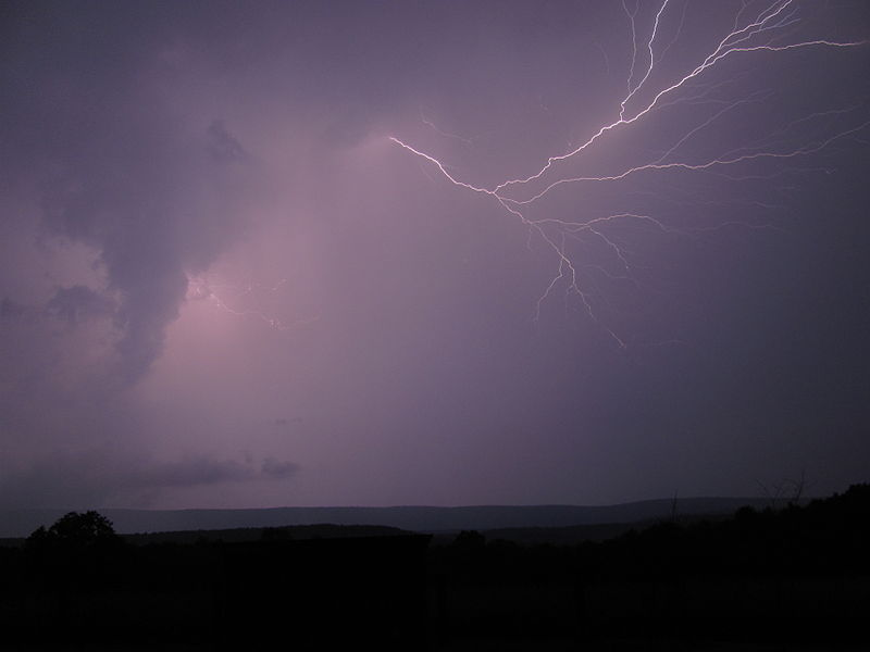 Lightning over Cacapon Mountain in West Virginia Skies 2.JPG
