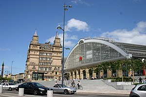 Liverpool–Manchester lines - Liverpool Lime Street station, the terminus for both routes to Manchester.