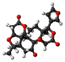 Ball-and-stick model of limonin{{{画像alt1}}}