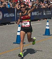 2d18633e384 Desiree Linden finishing the 2016 U.S. Olympic Trials Marathon