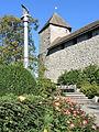 Lindenhof (Rapperswil) - Freiheitssäule und 'kleiner' Rosengarten - Pulverturm 2013-10-13 14-56-44 (P7700).JPG