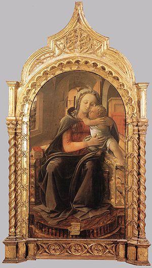 Madonna and Child Enthroned (Filippo Lippi) - Image: Lippi Madonna Tarquinia