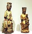 Lisbon, Museum Nacional de Arte Antiga, two sculptures Maria with child.JPG