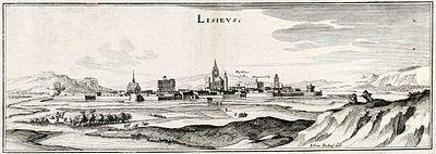 Lisieux in una stampa del 1657.