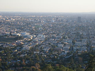Little Armenia, Los Angeles - Little Armenia as viewed from Griffith Observatory