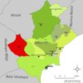Localització d'Agost respecte l'Alacantí.png