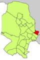Localització d'El Fortí respecte del Districte de Ponent.png
