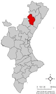 Alcalatén Comarca in Valencian Community, Spain