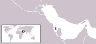 Outline of Bahrain - The location of Bahrain