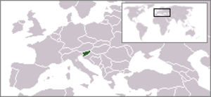 Outline of Slovenia - The location of Slovenia