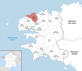 Locator map of Kanton Lesneven 2019.png