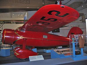 Lockheed Vega - Red Lockheed Vega 5b flown by Amelia Earhart in breaking two world records.