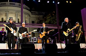 Grammy Award for Best Mexican/Mexican-American Album - Members of the two-time award-winning band Los Lobos performing at the White House in 2009