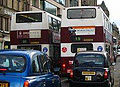 Lothian Buses buses, Madder and White livery, 29 October 2005.jpg