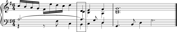 Loure from Bach, French Suite No 5, concluding bars Loure from Bach, French Suite No 5, concluding bars.png