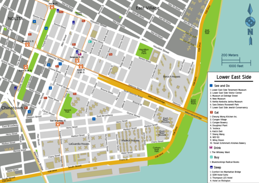 Map of Manhattan/Lower East Side