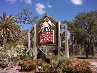 ZooTampa at Lowry Park - Image: Lowry Park Zoo Sign in Tampa