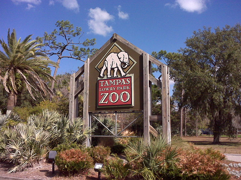 File:Lowry Park Zoo Sign in Tampa.jpg