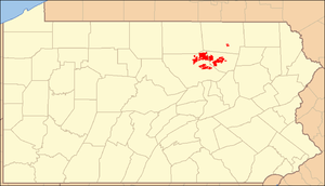 Loyalsock State Forest - Image: Loyalsock State Forest Locator Map
