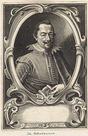 Hans Rottenhammer - Portrait of Hans Rottenhammer by Lucas Killian