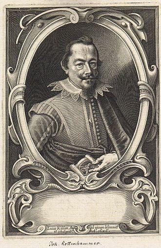 Hans Rottenhammer - Portrait of Hans Rottenhammer by Lucas Killian