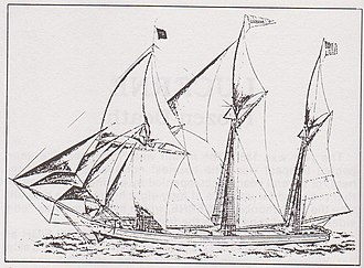Lucerne (shipwreck) - An early 1880s sketch of the Lucerne