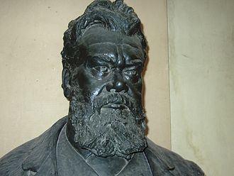 Ludwig Boltzmann - Boltzmann's bust in the courtyard arcade of the main building, University of Vienna.