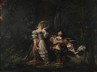 Louis XIV and Mlle. De La Valliere
