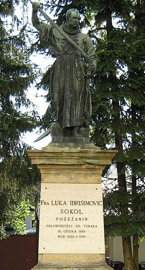 Luka Ibrišimović - Luka Ibrišimović statue, giving his year of birth as 1620