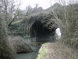 River Swift - River Swift near Lutterworth with the bridge that once carried the Great Central Railway