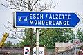 Luxembourg road signs E,4b Esch - Mondercange comm.jpg