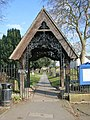 Lych gate, St Mary and All Angels' Church, Bingham, Notts - geograph.org.uk - 1758630.jpg