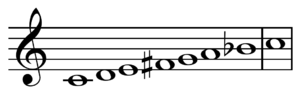 Dominant seventh flat five chord - Image: Lydian dominant C