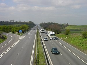 M2 motorway (Great Britain) - Junction 5 of the M2