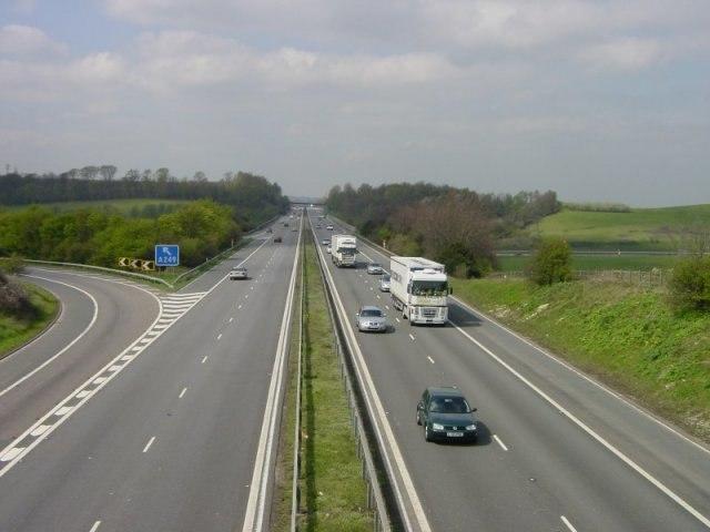 M2 motorway junction 5