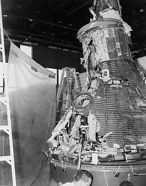 Mercury-Atlas 1 - The reconstructed MA-1 spacecraft after debris recovery