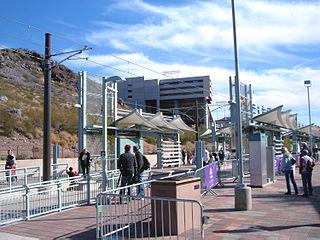 Veterans Way/College Avenue station regional transportation center in Tempe, Arizona