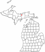 Location of Munising Township