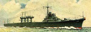 Japanese seaplane carrier Mizuho - Painting of Mizuho