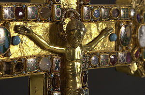 Cross of Mathilde - Crucifix detail