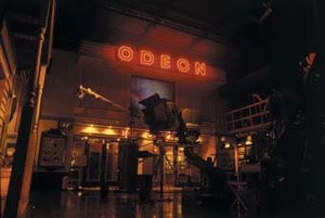 Museum of the Moving Image (London) - The art deco Odeon within MOMI was in contrast to the working Hollywood 'factory' studio set in front of it.